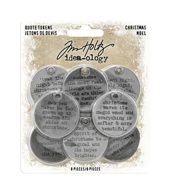 Idea-Ology Metal Quote Tokens 8/Pkg-Christmas