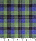 Snuggle Flannel Fabric -Skylar Blue Green Plaid