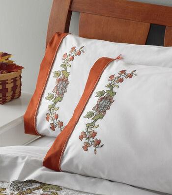 Bucilla Waverly Charleston Chip Stamped Embroidery Pillowcase