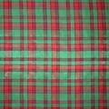 Christmas Cotton Fabric-Green Plaid