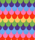 Snuggle Flannel Fabric -Rainbow Mermaid Scales