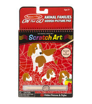 Melissa & Doug On The Go Scratch Art Animal Families Hidden Picture Pad, , hi-res