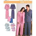 Simplicity Pattern 3971BB Adult Sleep Tops & Bottoms-Size XL-XXL-XXXL