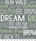 Nursery Flannel Fabric-Boone Inspirational Words