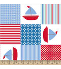 Snuggle Flannel Fabric -Sailboat Patch