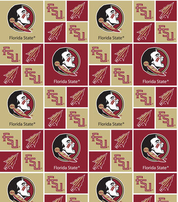 Florida State University Seminoles Cotton Fabric -Patch