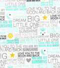 Nursery Flannel Fabric -Dream Big Words