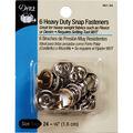 Dritz 0.63\u0022 Heavy Duty Snap Fasteners 6pcs Size 24 Nickel