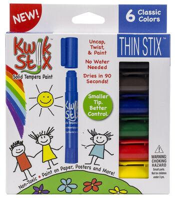 Kwik Stix ThinStix Tempera Paint 6/pkg-Classic Assorted