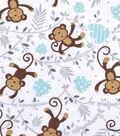 Nursery Cotton Fabric -Monkey Words
