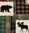 Fleece No Sew Throw 72\u0022-Bear Lake Patches