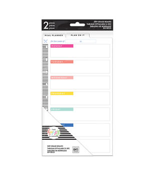 The Happy Planner 2 pk Meal Planner Dry Erase Boards