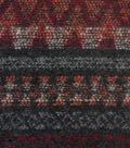 Navajo Woven Jacquard Gray Red