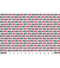 Snuggle Flannel Fabric -Red And Green Hohoho