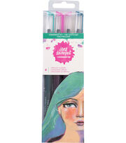 Jane Davenport Mixed Media 2 Mermaid Markers 4/Pkg-Shimmering Sky, , hi-res
