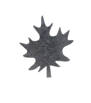 Simply Autumn Craft 3.5''x4'' Galvanized Spike Leaf Icon