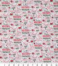Christmas Cotton Fabric 43\u0022-Cardinal Holiday Words