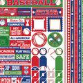 Reminisce Baseball 50 pk Cardstock Stickers