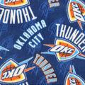 Oklahoma City Thunder Fleece Fabric-Logo