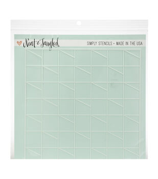 """Neat & Tangled Stencil 6""""X6""""-Receding Blocks"""