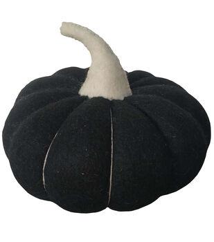 Maker's Halloween Wool Fashion Pumpkin-Black