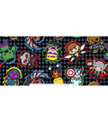 Marvel Comics Kawaii Fleece Fabric 59\u0027\u0027-Character Toss on Dots