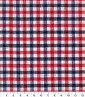 Woven Cotton Fabric 44\u0027\u0027-Red, White & Blue Checked