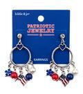 hildie & jo Patriotic Jewelry Flag Dangle Earrings