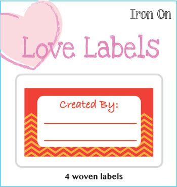 Iron-On Love Labels Created by-Orange