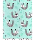 Snuggle Flannel Fabric -Happy Sloth