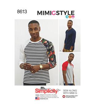 Simplicity Pattern 8613 Men's Mimi G Style Knit Top-Size A (XS-S-M-L-XL)