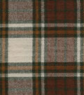 Flannel Shirting Fabric 41\u0022-Brown Cream Green