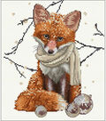 Hey There Foxy Lady On Aida Counted Cross Stitch Kit