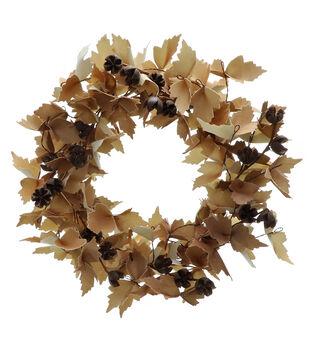 Blooming Autumn Large Wreath-Toast