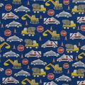 Snuggle Flannel Fabric-Emergency Cars