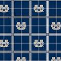 Utah State University Aggies Flannel Fabric -Plaid