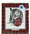 RTO Counted Cross Stitch Kit 7.87\u0022X7.87\u0022-Playful Kitten (14 Count)
