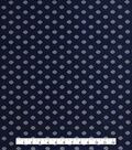 Anti-Static Lining Fabric 58\u0022-Navy Print