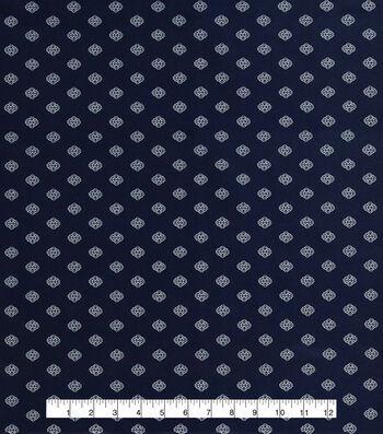 Anti-Static Lining Fabric -Navy Print