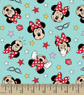 Disney Minnie Mouse Cotton Fabric -Glasses and Faces