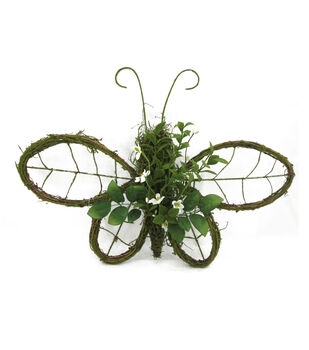 Bloom Room Butterfly Wall Piece With Flower