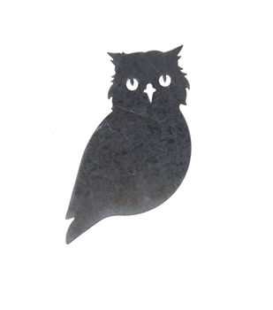 Maker's Halloween Craft 2.6''x4.2'' Galvanized Owl