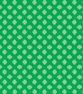 Girl Scout Cotton Fabric 43\u0022-Green Trefoil