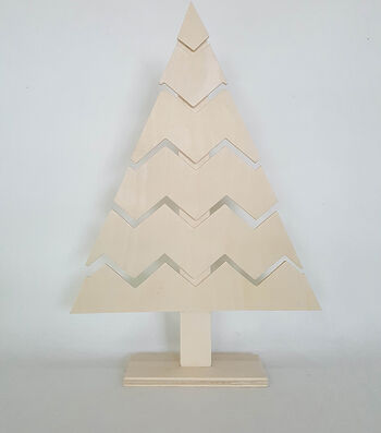 Maker's Holiday Craft Unfinished Wood Décor-Large Tree Chevron