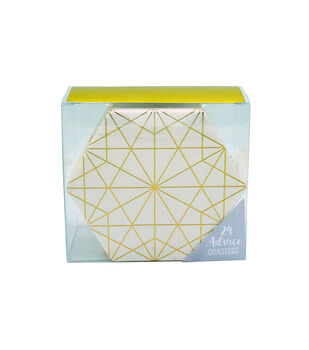 Gold Foil Paper Coasters-Set of 24