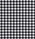 Sportswear Stretch Twill Fabric 57\u0027\u0027-Black & White Mini Checks
