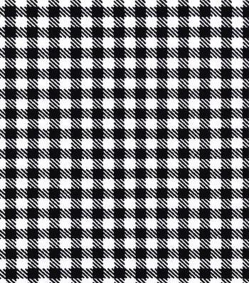 Sportswear Stretch Twill Fabric 57''-Black & White Mini Checks