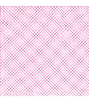 Snuggle Flannel Fabric 42''-Pink Diagonal Plaid