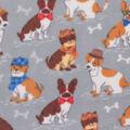 Anti-Pill Plush Fleece Fabric-Professor Dogs