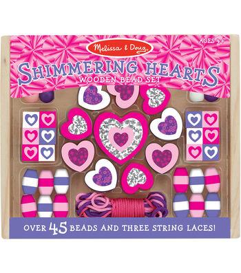 Hearts -wooden Bead Set